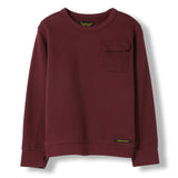 BRIAN Burgundy -  Knitted Crew Neck Sweatshirt 1
