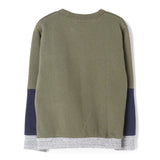 BRIAN City Khaki Colorblock - Crew Neck Sweatshirt