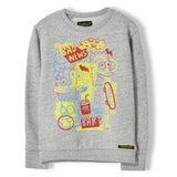 BRIAN Heather Cloud Pop Bart - Boy Knitted Crew Neck Sweatshirt 1