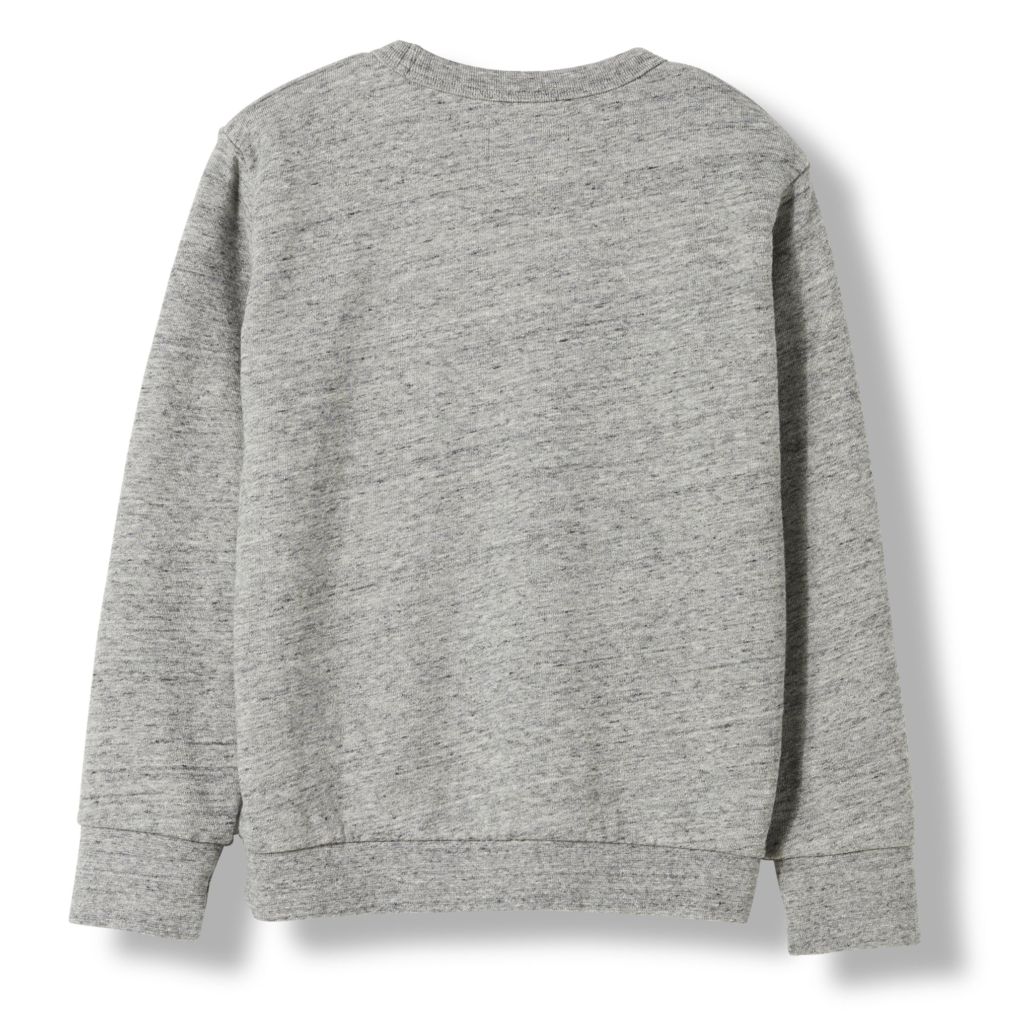 BRIAN Heather Grey Monster Plan -  Knitted Crew Neck Sweatshirt 2