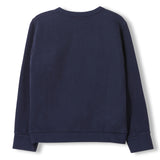 BRIAN Night Blue -  Knitted Crew Neck Sweatshirt 2