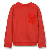 BRIAN Poppy Red - Crew Neck Sweatshirt 1
