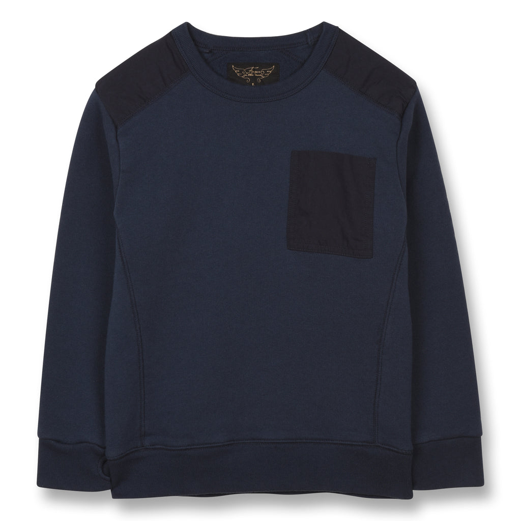 BRIAN Sailor Blue Flags - Crew Neck Sweatshirt 1