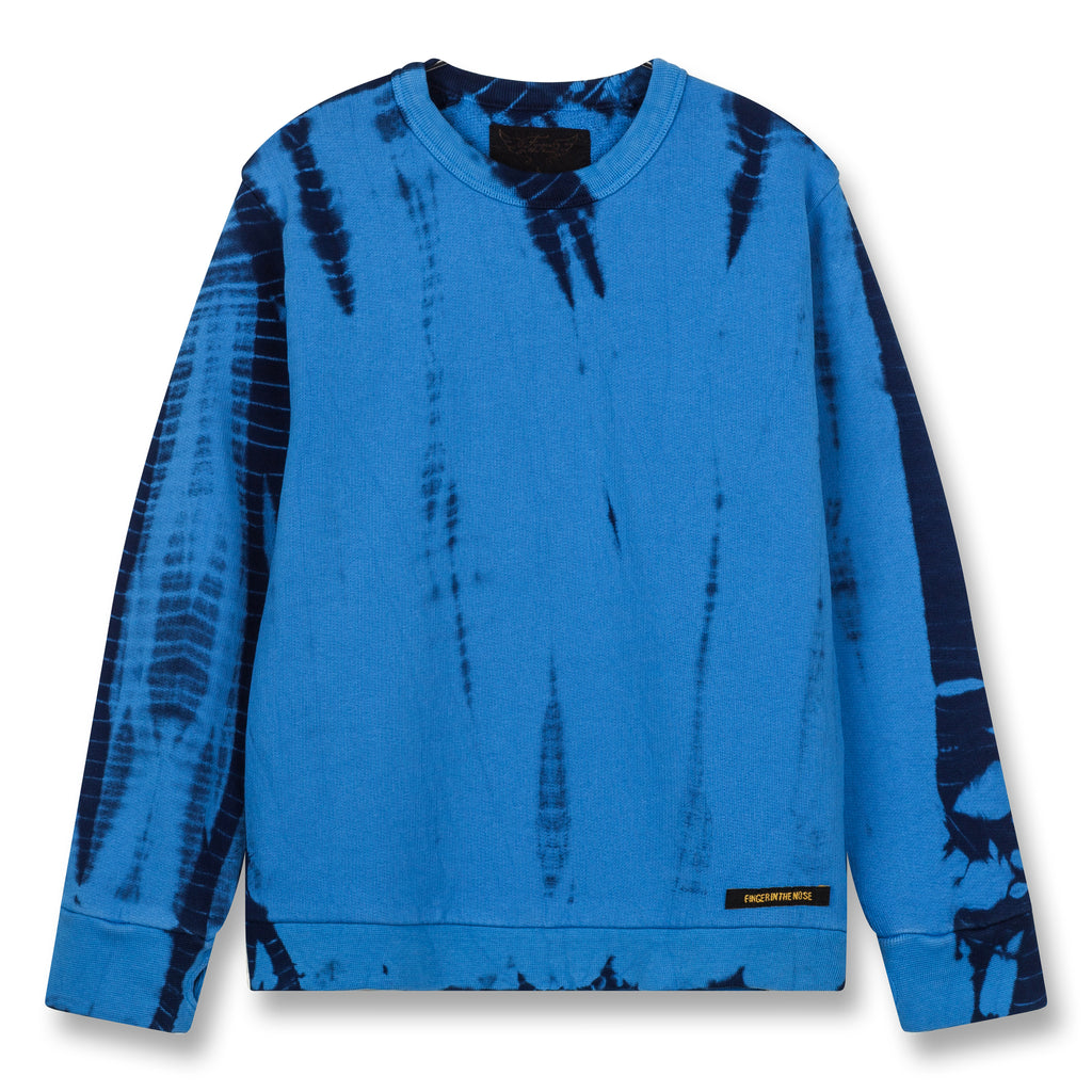 BRIAN Sharp Blue Bamboo Dye - Crew Neck Sweatshirt 1