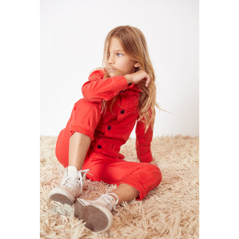 BROOK Poppy Red - Worker Jumpsuit 2