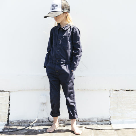 BROOK Super Navy - Unisex Woven Long Sleeve Overall 2 js-nozoom