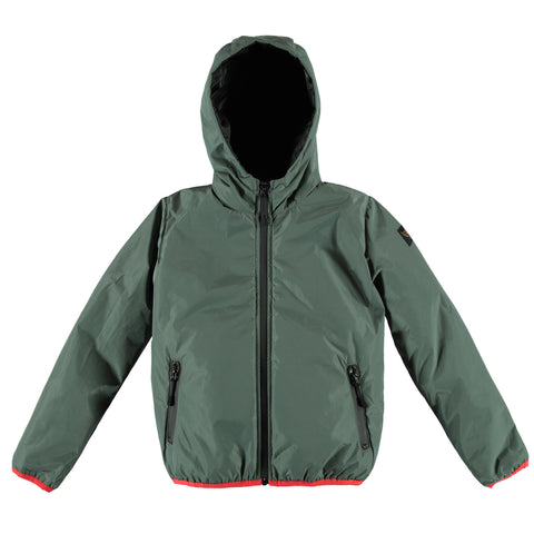 BUCKLEY RAIN Warm Green - Boy Rain Zipped Jacket