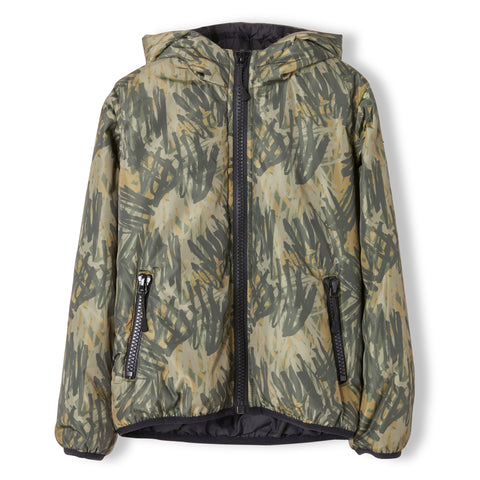BUCKLEY Khaki Camo - Unisex Woven Hooded Wind Breaker 1