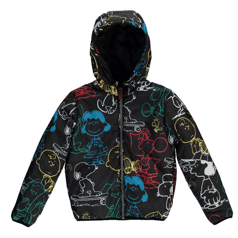 BUCKLEY PREMIUM Black Snoopy - Unisex Woven Zipped Hoody