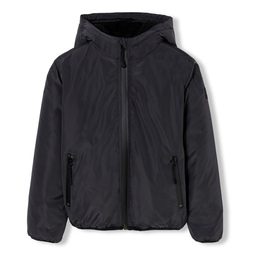 BUCKLEY RAIN Ash Black - Boys Zipped Rain Stop Hoody