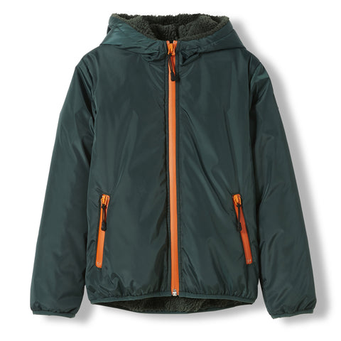 BUCKLEY RAIN College Green -  Woven Hooded Jacket 1