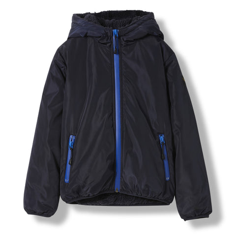 BUCKLEY RAIN Night Blue -  Woven Hooded Jacket 1
