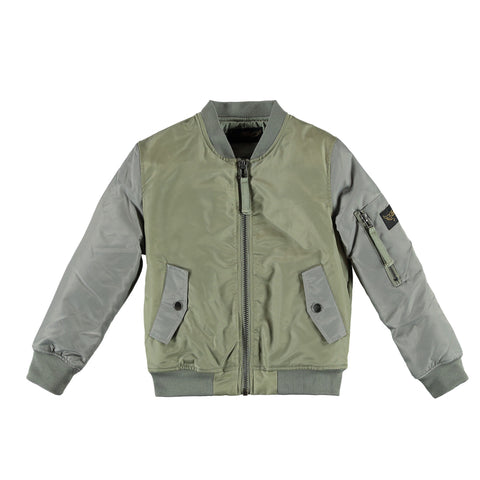 BUDDY Green Grey - Unisex Bi-Color Bomber Jacket