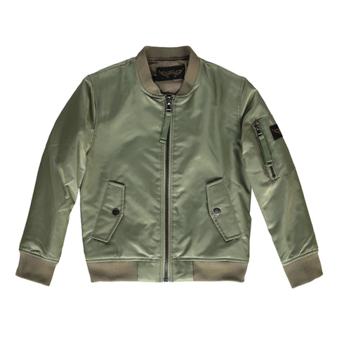 BUDDY Dark Olive/Ash Green - Unisex Bomber Jacket