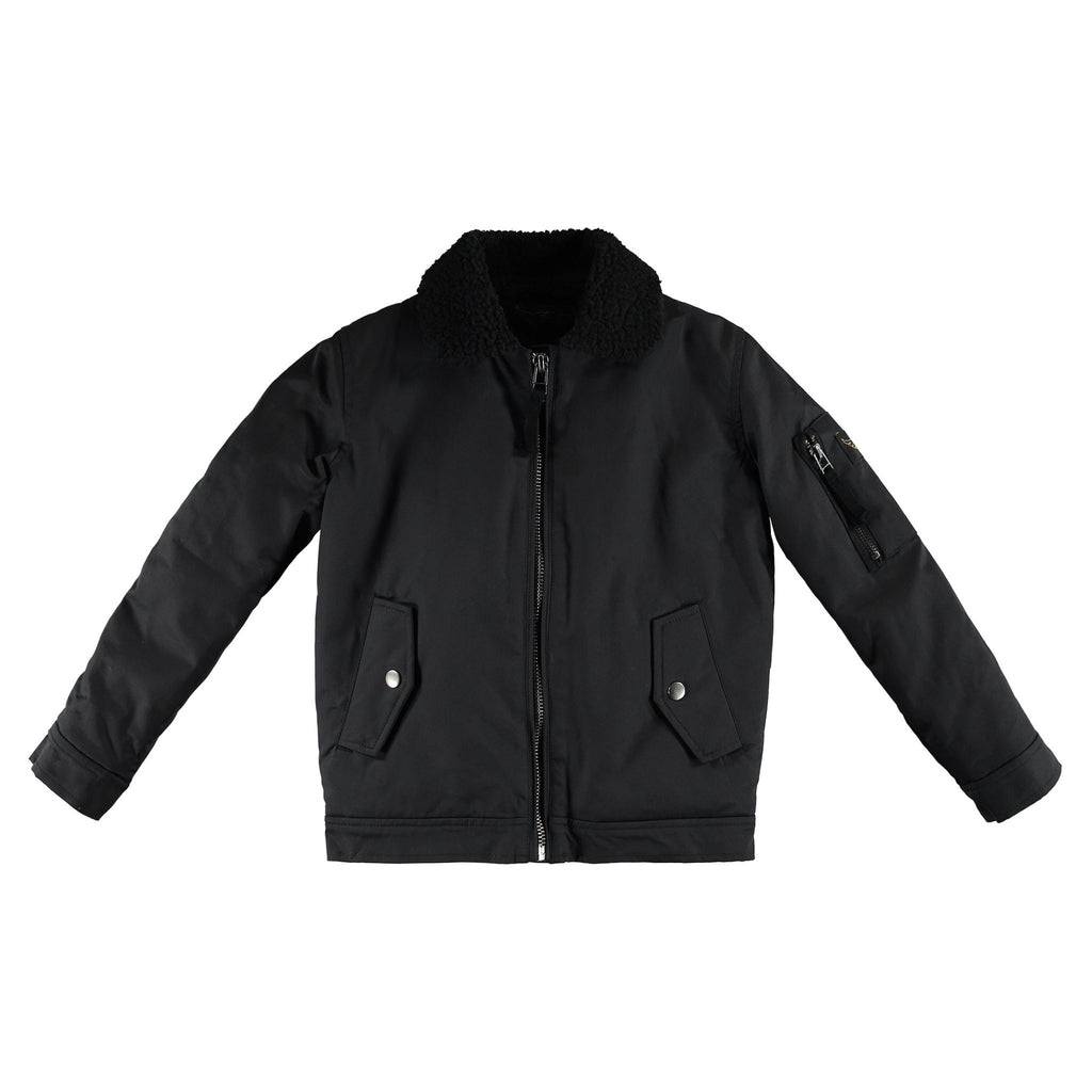BUSTER Black - Boys Bomber Jacket