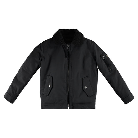 BUSTER Black - Boys Woven Bomber Jacket