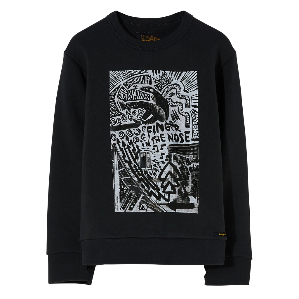 BRIAN Ash Black Street - Crew Neck Sweater