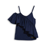 CATHY Navy - Tank Top With Flounces 1