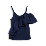 CATHY Navy - Tank Top With Flounces 2