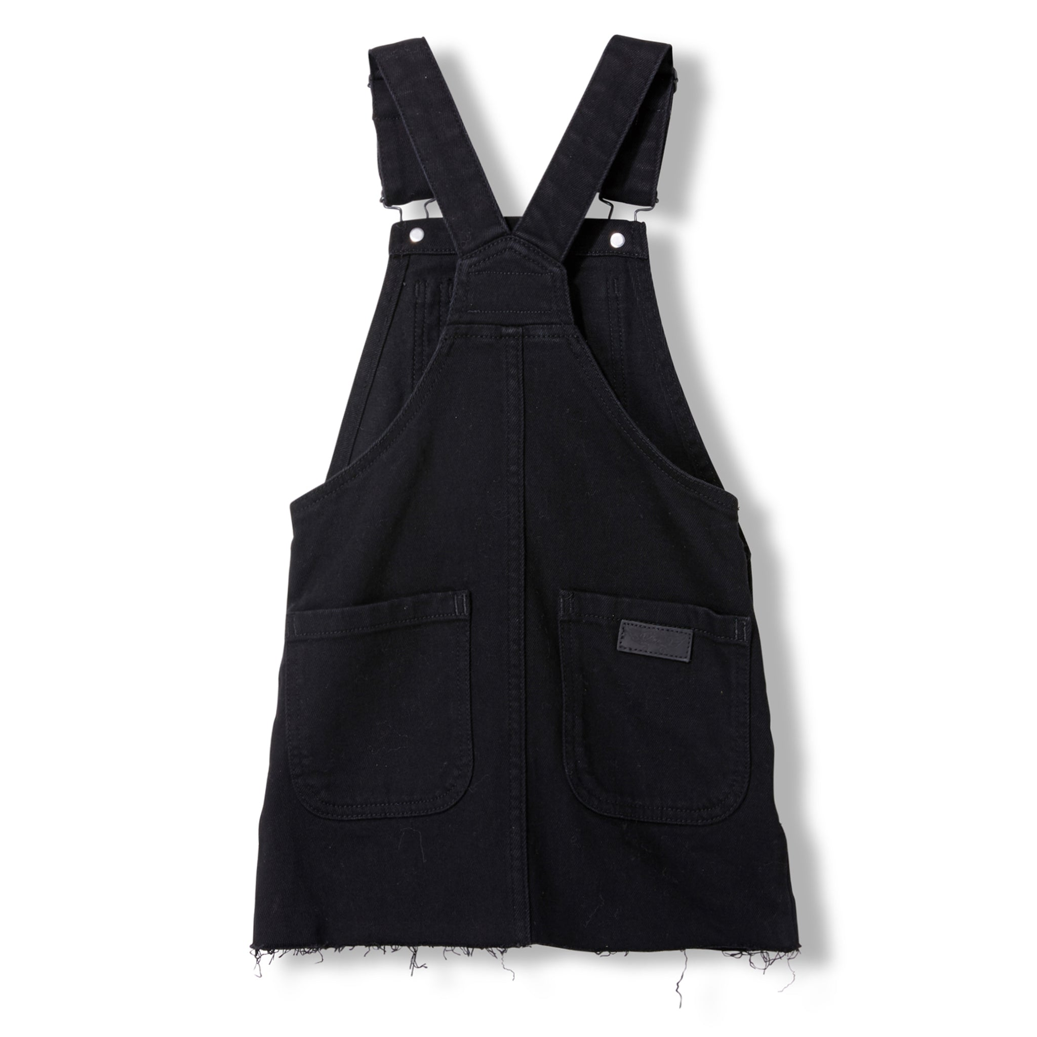 CHERRY Black Denim Raw Edge -  Woven Overall Dress 2