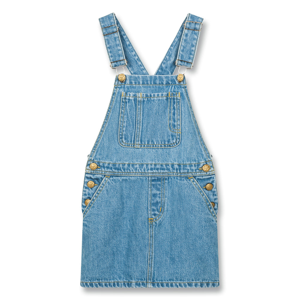 CHERRY Blue Denim - Overall Dress 1