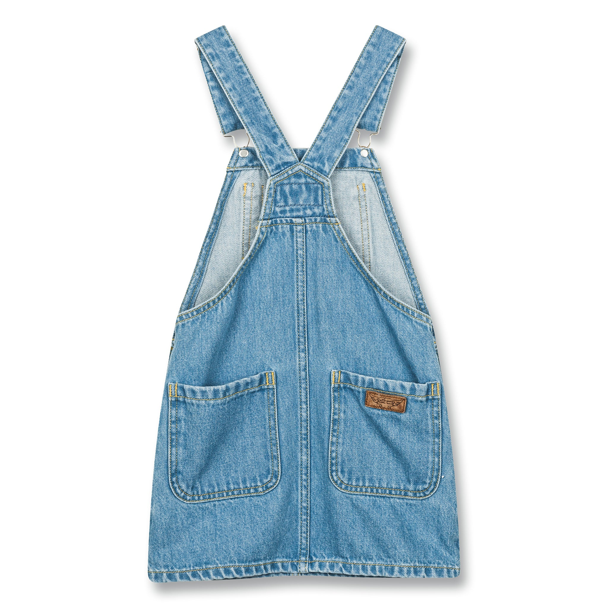 CHERRY Blue Denim - Overall Dress 2