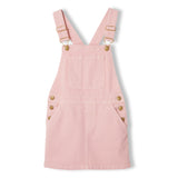 CHERRY Milky Pink - Girl Woven Overall Dress 1