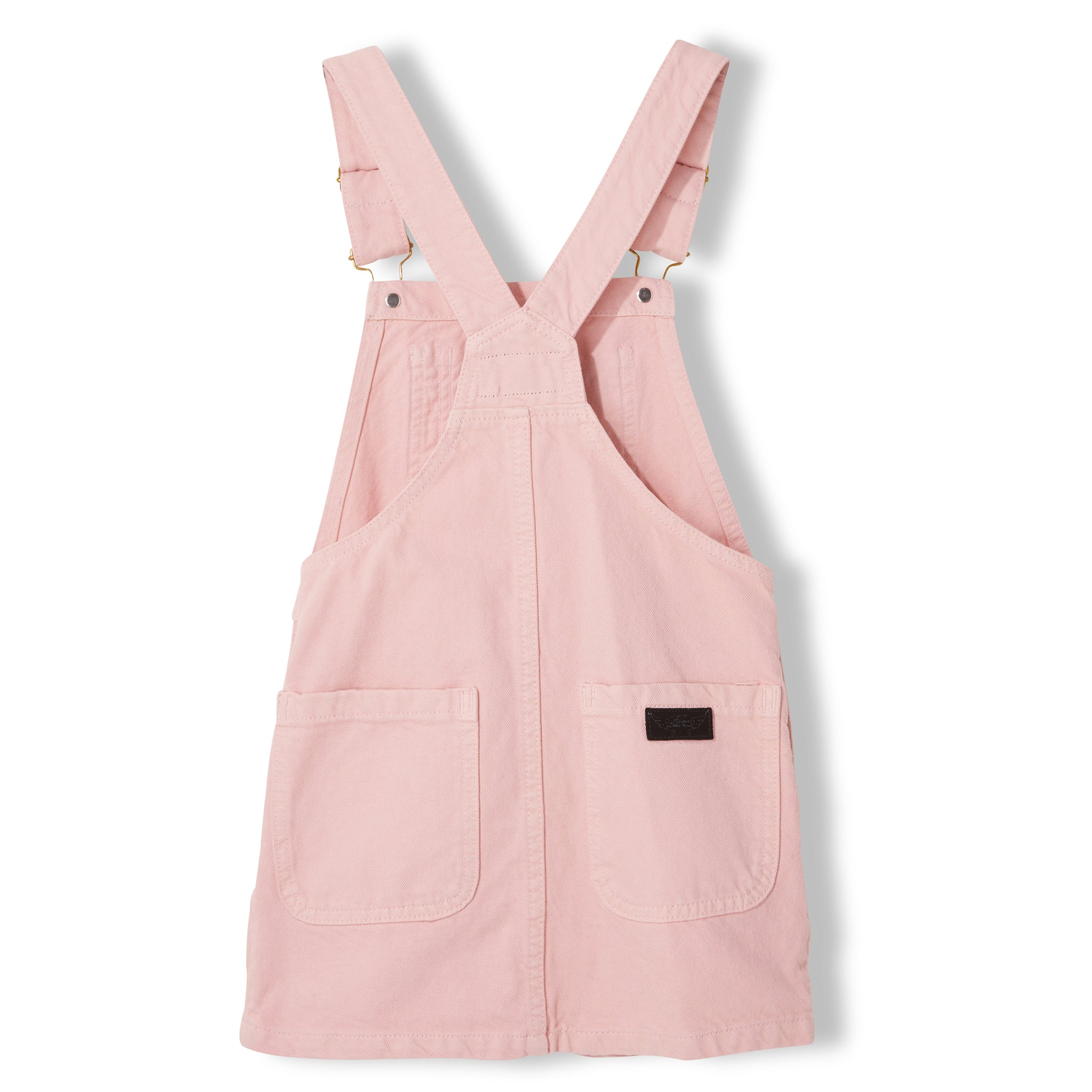 CHERRY Milky Pink - Girl Woven Overall Dress 3