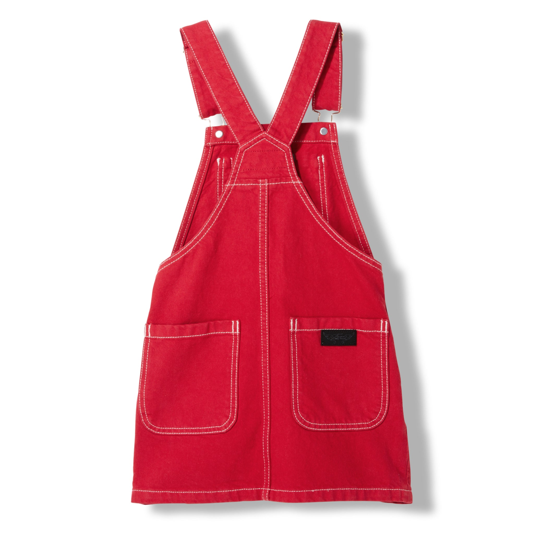 CHERRY Red -  Woven Overall Dress 3