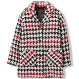 CHRISTY Multicolor Checkers -  Woven Oversized Coat 1