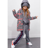 CHRISTY Multicolor Checkers -  Woven Oversized Coat 3
