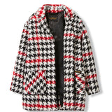 CHRISTY Multicolor Checkers -  Woven Oversized Coat 4