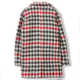 CHRISTY Multicolor Checkers -  Woven Oversized Coat 5