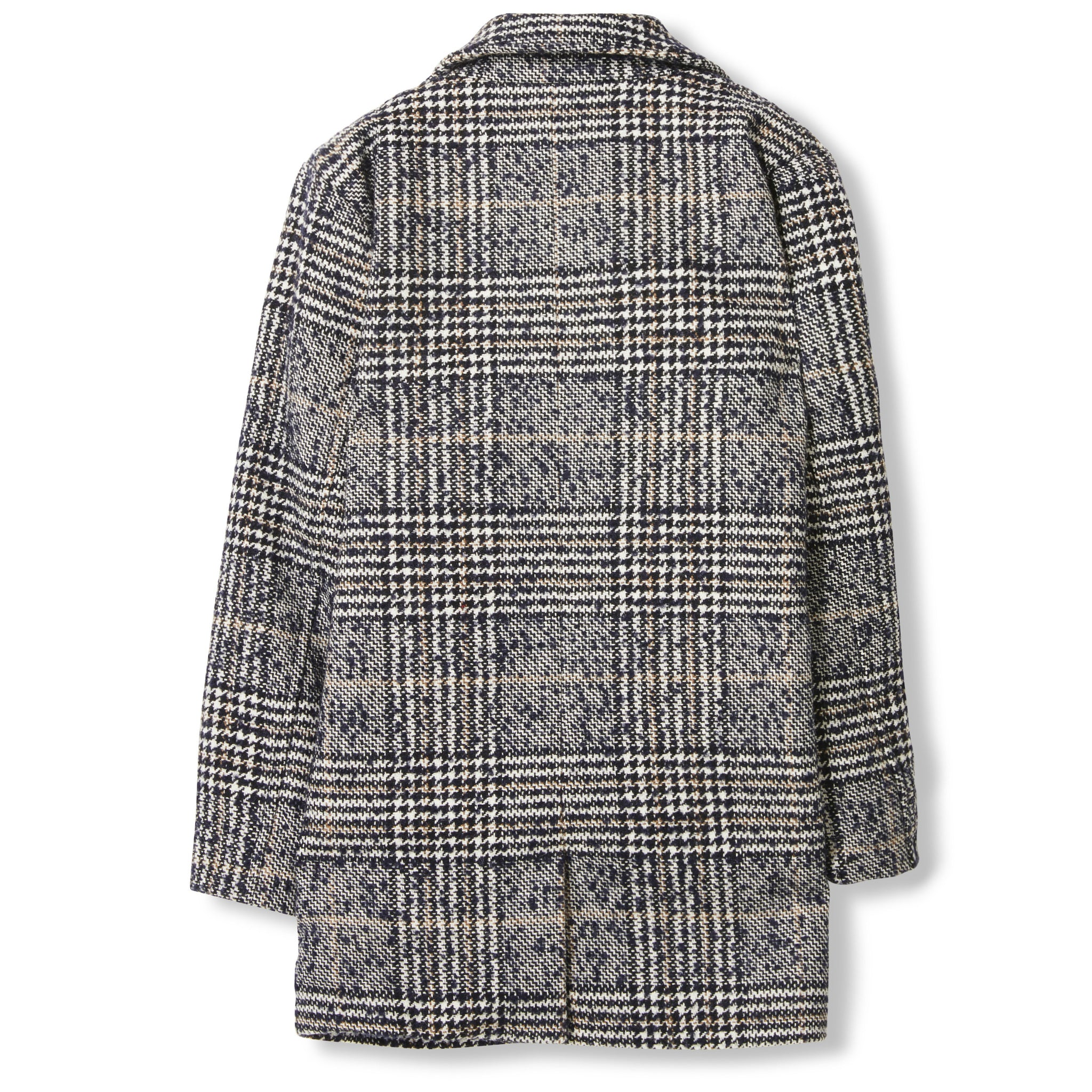 CHRISTY Navy Houndstooth -  Woven Oversized Coat 4