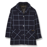 CHRISTY Sailor Blue Checks - Oversized Coat 1