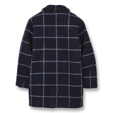 CHRISTY Sailor Blue Checks - Oversized Coat 2