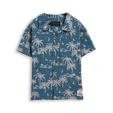CHUCK Stone Blue Palms - Short Sleevess Shirt 1