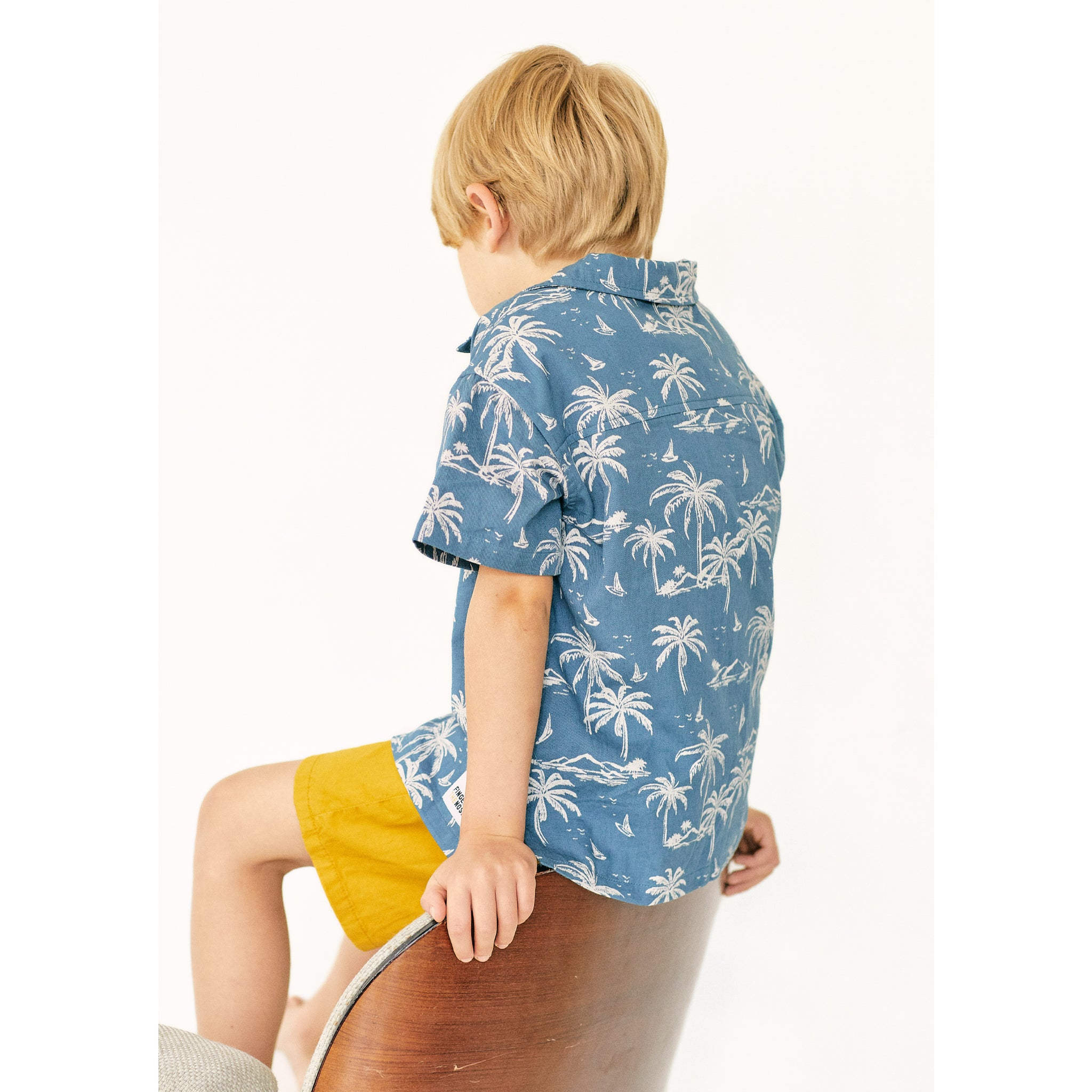 CHUCK Stone Blue Palms - Short Sleevess Shirt 3