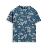 CHUCK Stone Blue Palms - Short Sleevess Shirt 4