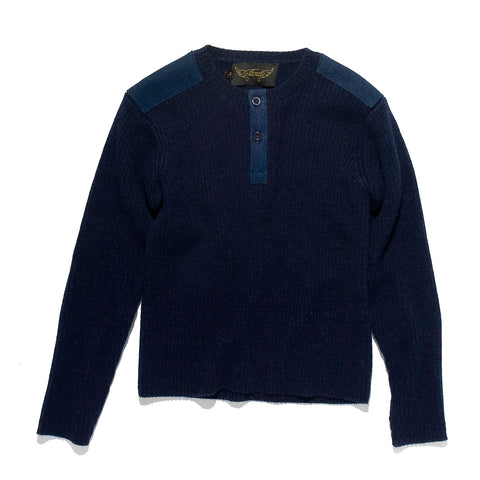 CAPTAIN Navy - Heavy Knitted Round Neck Jumper