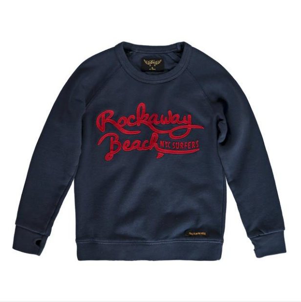 HANK New Navy Rockaway - Boy Crew Neck Sweater