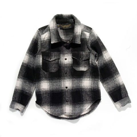 COOPER Black Checker - Long Sleeves Wool Shirt