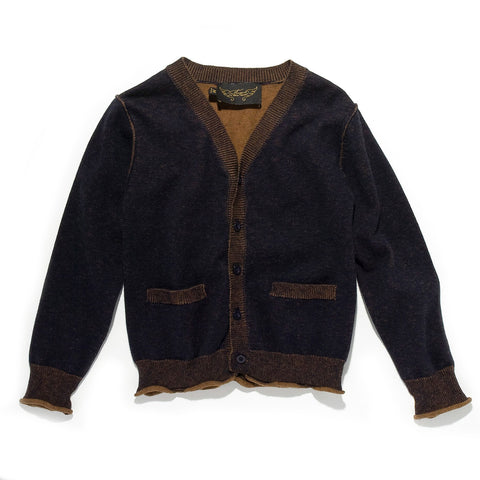 CRAIG Navy/Cord - Cashmire/Cotton Cardigan