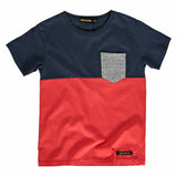 DALTON Pop Red New Navy - Short Sleeve T-Shirt