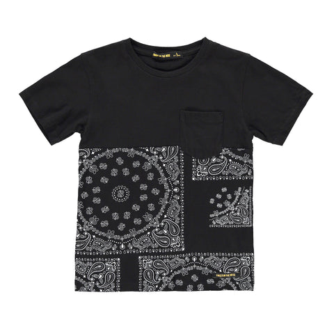 DALTON Black Bandana - Boy Jersey Short Sleeves T-Shirt
