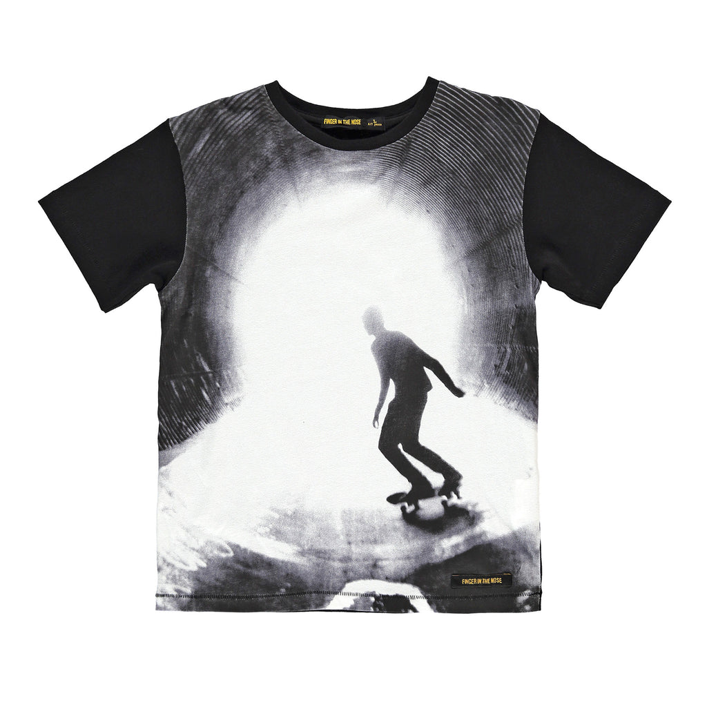 DALTON Black Skateboarder - Boy Jersey Short Sleeves T-Shirt