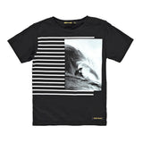 DALTON Black Surf Stripes - Short Sleeve T-Shirt