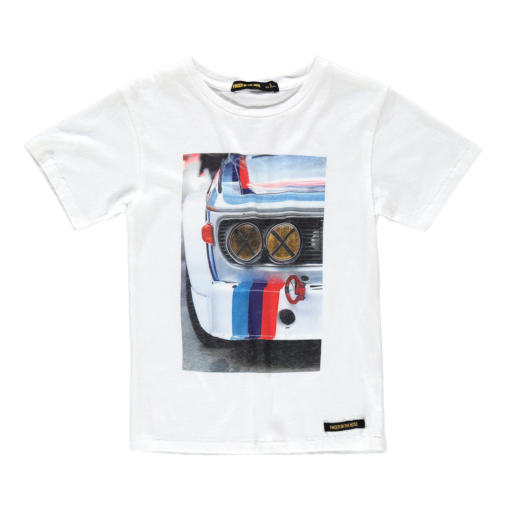 DALTON White White Race - Boy Jersey Short Sleeves T-Shirt