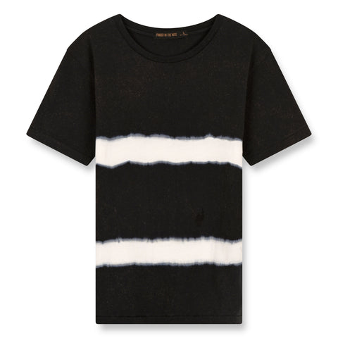 DALTON Black Tie & Dye - Short Sleeves T-Shirt 1
