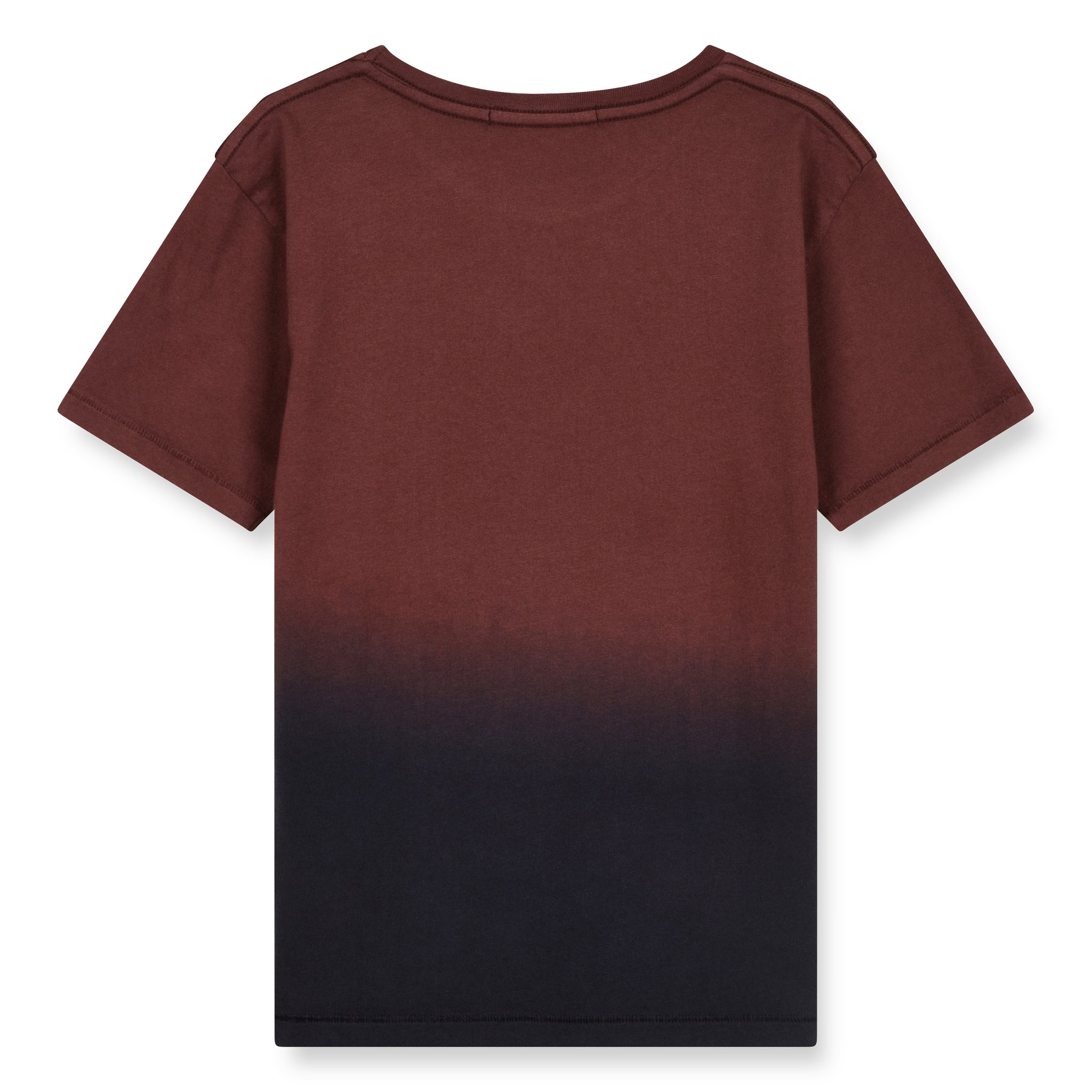 DALTON Burgundy Dip Dye - Short Sleeves T-Shirt 2